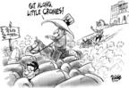 Cartoonist Dwane Powell  Dwane Powell's Editorial Cartoons 2007-08-30 bush