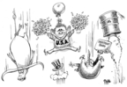 Cartoonist Dwane Powell  Dwane Powell's Editorial Cartoons 2008-03-18 bush
