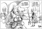 Cartoonist Dwane Powell  Dwane Powell's Editorial Cartoons 2008-03-28 former
