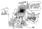 Cartoonist Dwane Powell  Dwane Powell's Editorial Cartoons 2008-04-09 tunnel