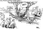 Cartoonist Dwane Powell  Dwane Powell's Editorial Cartoons 2008-06-05 railroad