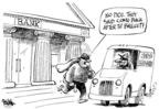 Cartoonist Dwane Powell  Dwane Powell's Editorial Cartoons 2008-10-03 robbery
