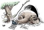 Cartoonist Dwane Powell  Dwane Powell's Editorial Cartoons 2008-08-12 Russia