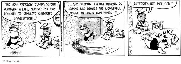 Comic Strip Sam Hurt  Queen of the Universe 1990-06-06 child