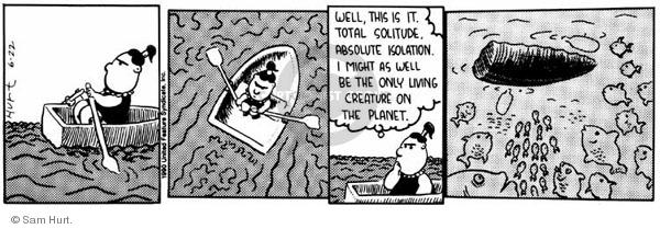 Comic Strip Sam Hurt  Queen of the Universe 1990-06-22 ocean