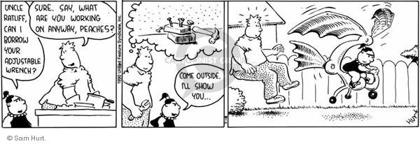 Comic Strip Sam Hurt  Queen of the Universe 1990-07-09 childhood