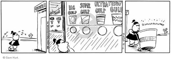 Comic Strip Sam Hurt  Queen of the Universe 1990-07-06 store