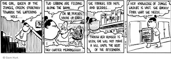 Comic Strip Sam Hurt  Queen of the Universe 1990-07-24 food