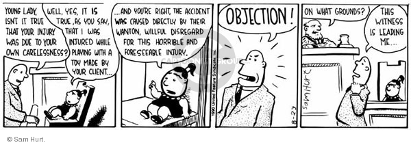 Comic Strip Sam Hurt  Queen of the Universe 1990-08-23 litigation