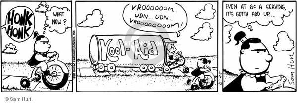 Comic Strip Sam Hurt  Queen of the Universe 1990-08-25 ride