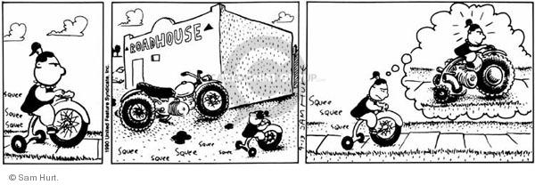 Comic Strip Sam Hurt  Queen of the Universe 1990-09-13 inspiration