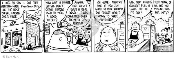 Comic Strip Sam Hurt  Queen of the Universe 1990-09-18 car design