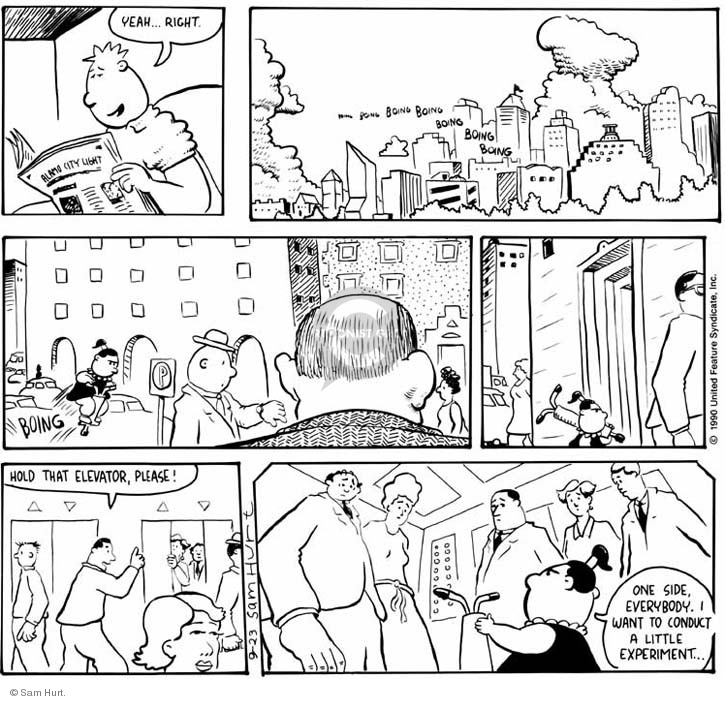 Comic Strip Sam Hurt  Queen of the Universe 1990-09-23 yeah