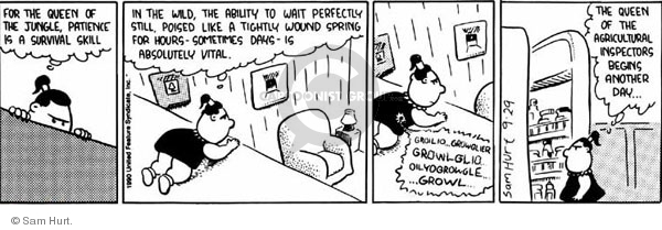 Comic Strip Sam Hurt  Queen of the Universe 1990-09-29 agriculture