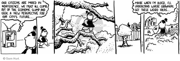 Comic Strip Sam Hurt  Queen of the Universe 1990-10-01 climb