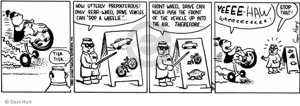 Comic Strip Sam Hurt  Queen of the Universe 1990-10-05 preposterous