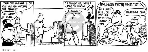 Comic Strip Sam Hurt  Queen of the Universe 1990-10-10 tax