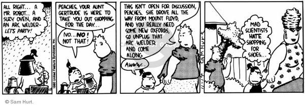 Cartoonist Sam Hurt  Queen of the Universe 1990-11-14 aunt