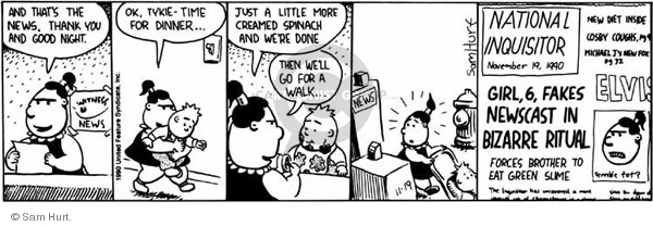 Comic Strip Sam Hurt  Queen of the Universe 1990-11-19 good
