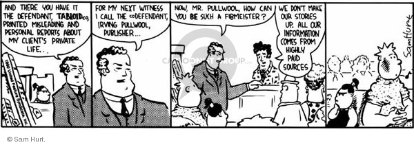 Comic Strip Sam Hurt  Queen of the Universe 1990-11-23 litigation