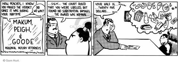 Comic Strip Sam Hurt  Queen of the Universe 1990-11-24 litigation