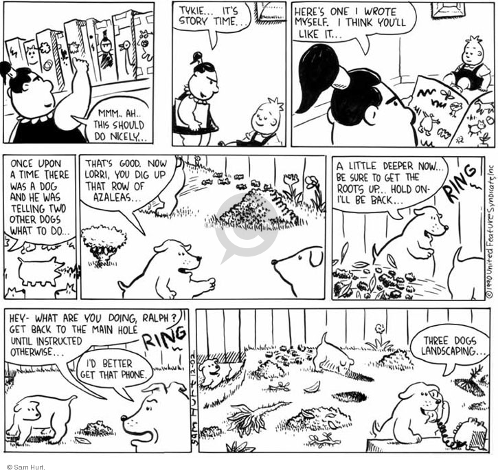 Comic Strip Sam Hurt  Queen of the Universe 1990-12-09 dog