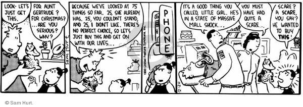 Comic Strip Sam Hurt  Queen of the Universe 1990-12-20 phone