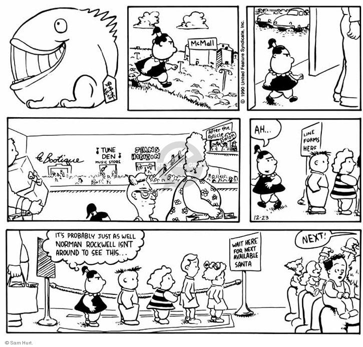Comic Strip Sam Hurt  Queen of the Universe 1990-12-23 store