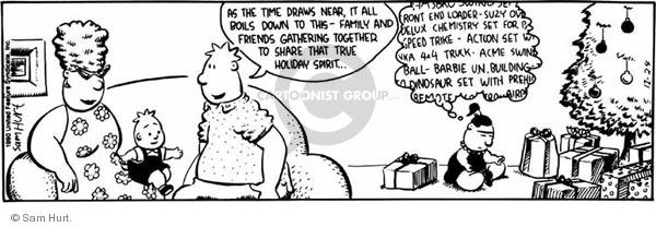 Comic Strip Sam Hurt  Queen of the Universe 1990-12-24 greedy
