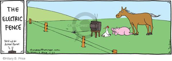 The electric fence. Next up on Animal Planet.