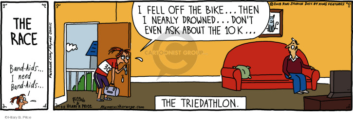 The Race. Band-Aids … I need Band-Aids … I fell off the bike … then I nearly drowned … dont even ask about the 10k … The triedathlon.