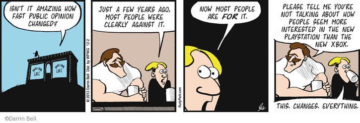 Comic Strip Darrin Bell  Rudy Park 2013-12-02 culture