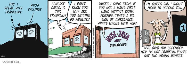 Cartoonist Darrin Bell  Rudy Park 2013-12-04 wrong