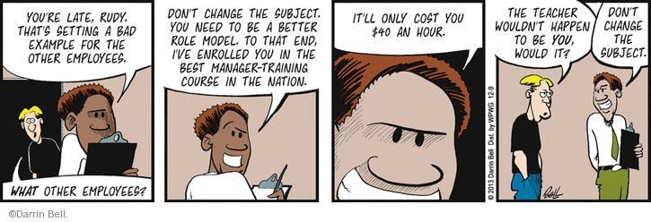 Comic Strip Darrin Bell  Rudy Park 2013-12-09 change