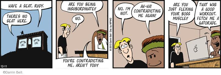 Comic Strip Darrin Bell  Rudy Park 2013-12-11 employer