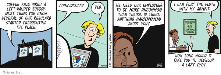 Comic Strip Darrin Bell  Rudy Park 2013-12-12 employer