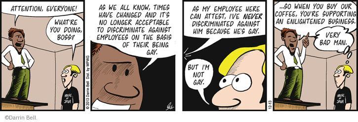Comic Strip Darrin Bell  Rudy Park 2013-12-13 employee employer