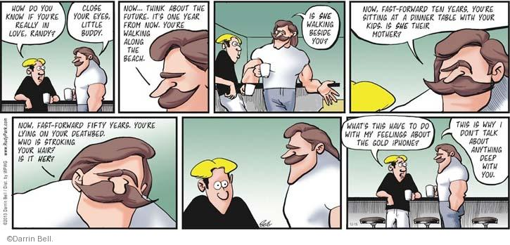 Comic Strip Darrin Bell  Rudy Park 2013-12-15 technology gadget