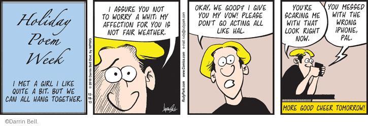 Comic Strip Darrin Bell  Rudy Park 2013-12-18 mess