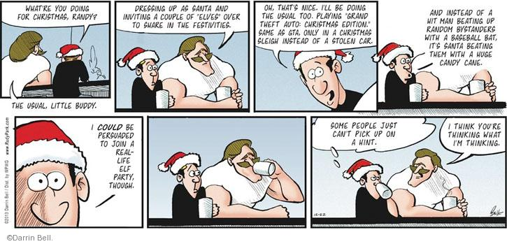 Comic Strip Darrin Bell  Rudy Park 2013-12-22 over
