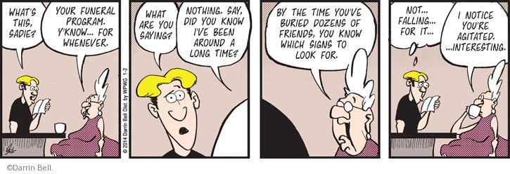 Comic Strip Darrin Bell  Rudy Park 2014-01-02 practical