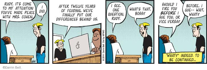 Comic Strip Darrin Bell  Rudy Park 2014-01-08 employer