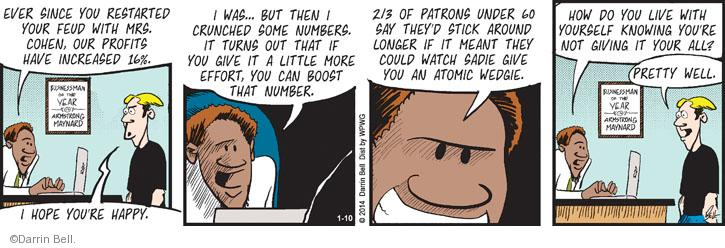 Comic Strip Darrin Bell  Rudy Park 2014-01-10 feud