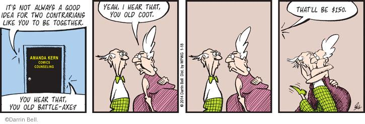 Comic Strip Darrin Bell  Rudy Park 2014-01-18 incompatible