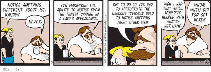 Comic Strip Darrin Bell  Rudy Park 2014-01-20 focus