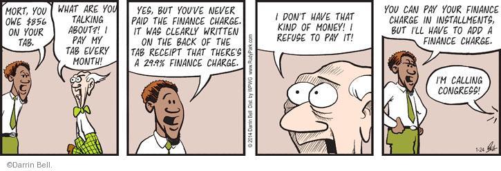 Cartoonist Darrin Bell  Rudy Park 2014-01-24 payment