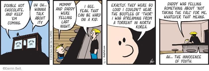 Comic Strip Darrin Bell  Rudy Park 2014-01-27 night