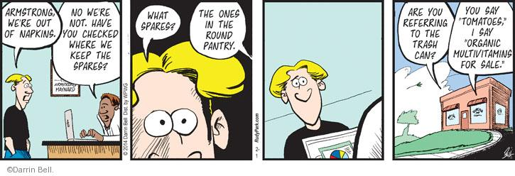 Comic Strip Darrin Bell  Rudy Park 2014-02-01 garbage