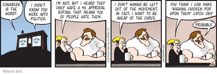 Comic Strip Darrin Bell  Rudy Park 2014-02-03 chicken
