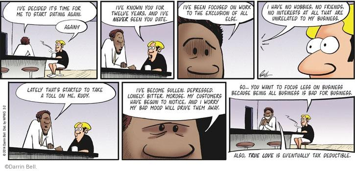 Comic Strip Darrin Bell  Rudy Park 2014-02-02 focus